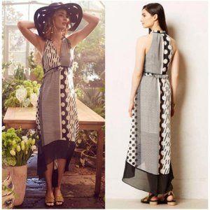 Anthropologie Maeve Maeve Channeled Dot Maxi Dress